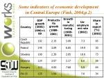 some indicators of economic development in central europe fink 2004 p 2