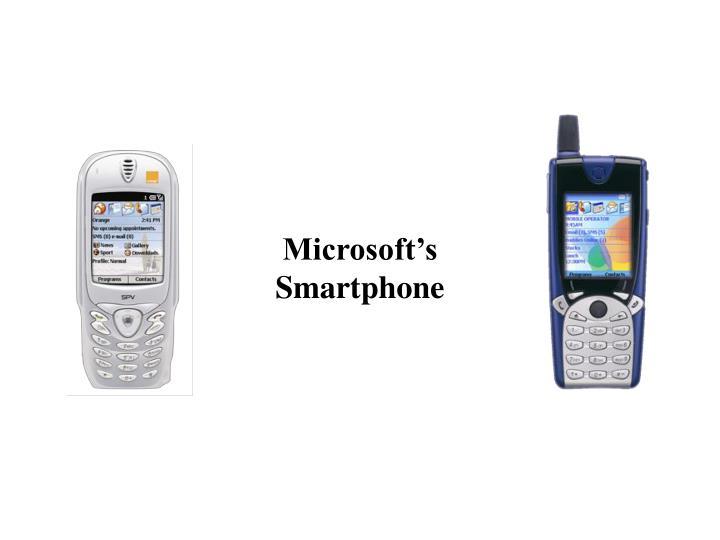 Microsoft s smartphone