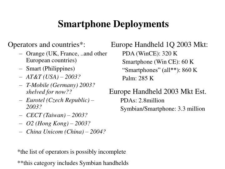 Smartphone Deployments