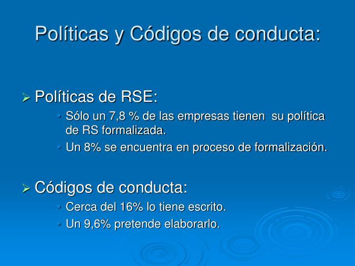 Políticas y Códigos de conducta: