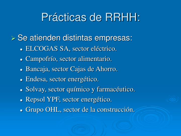 Prácticas de RRHH: