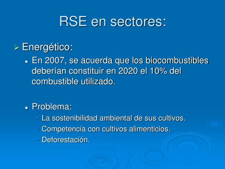RSE en sectores: