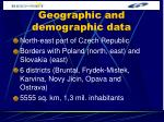 geographic and demographic data