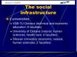 the social infrastructure