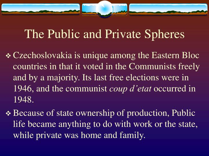 The public and private spheres