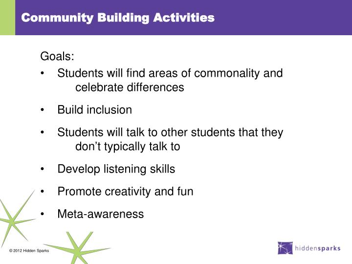 Community Building Activities