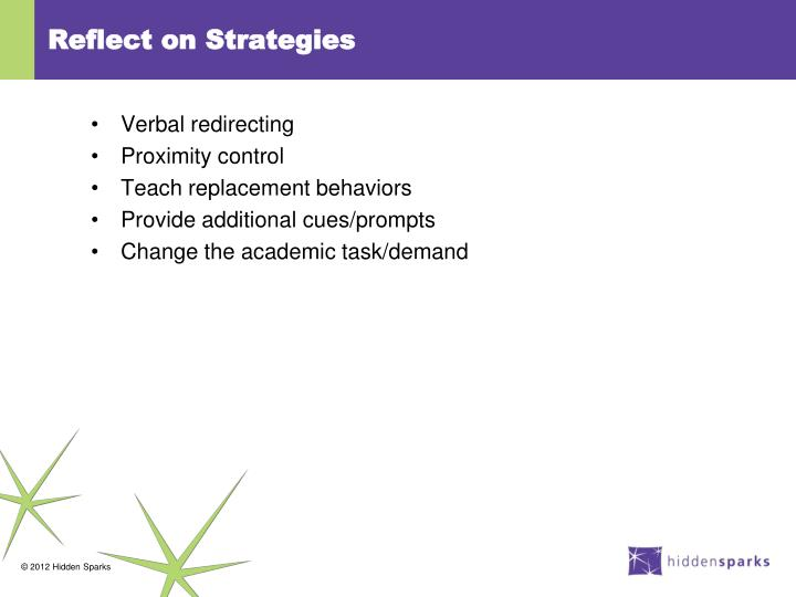 Reflect on Strategies