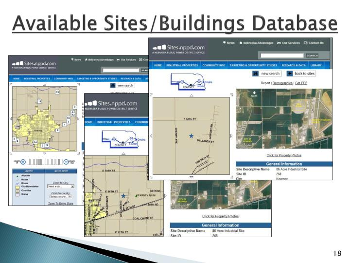 Available Sites/Buildings Database