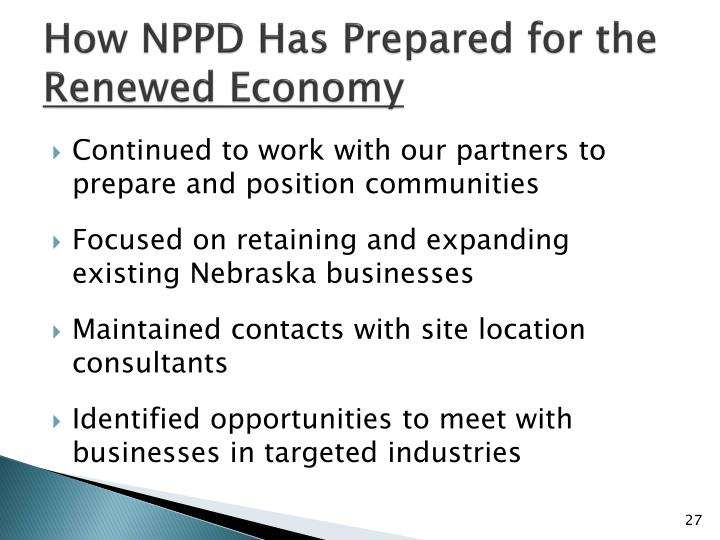 How NPPD Has Prepared for the