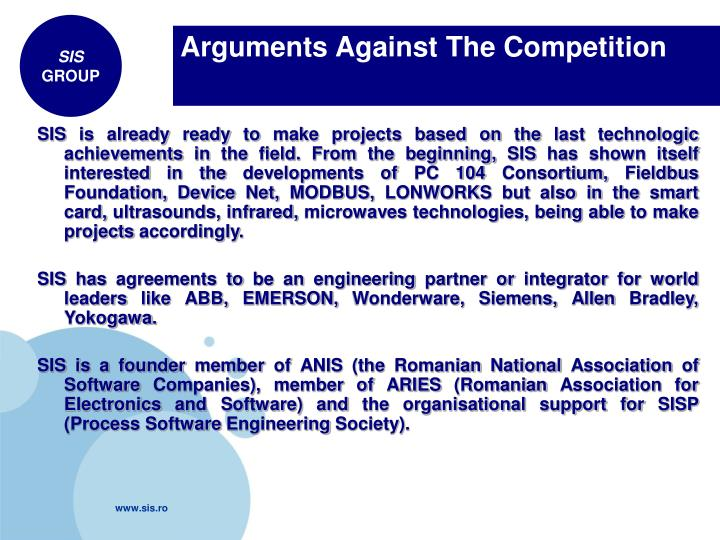 Arguments Against The Competition