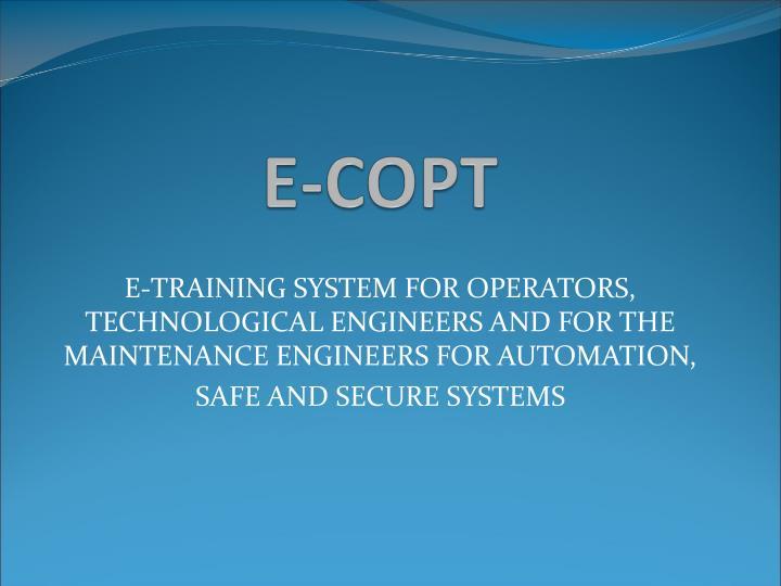 E-COPT