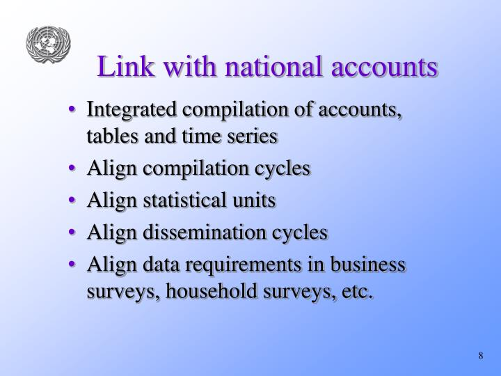 Link with national accounts