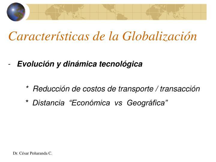 Características de la Globalización