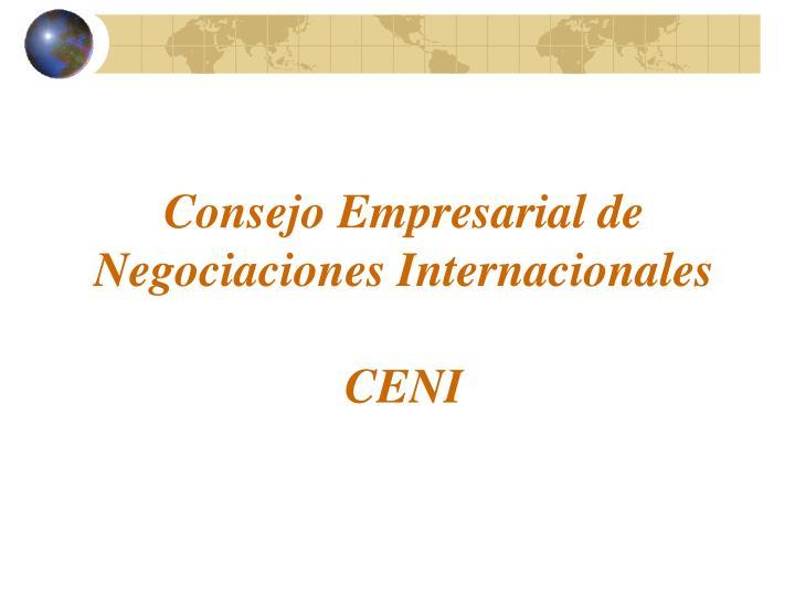 Consejo Empresarial de Negociaciones Internacionales