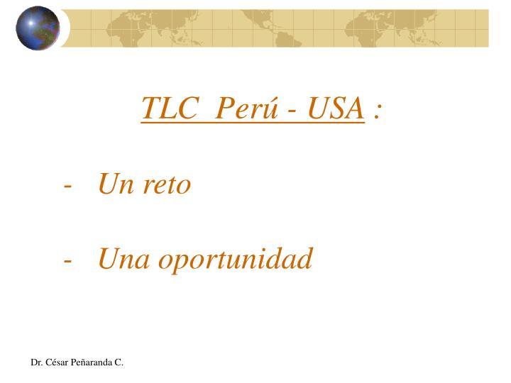TLC  Perú - USA