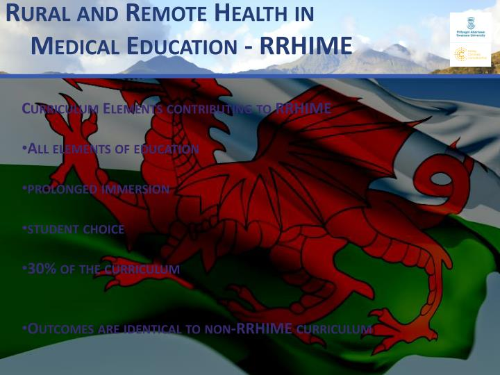 Rural and Remote Health in