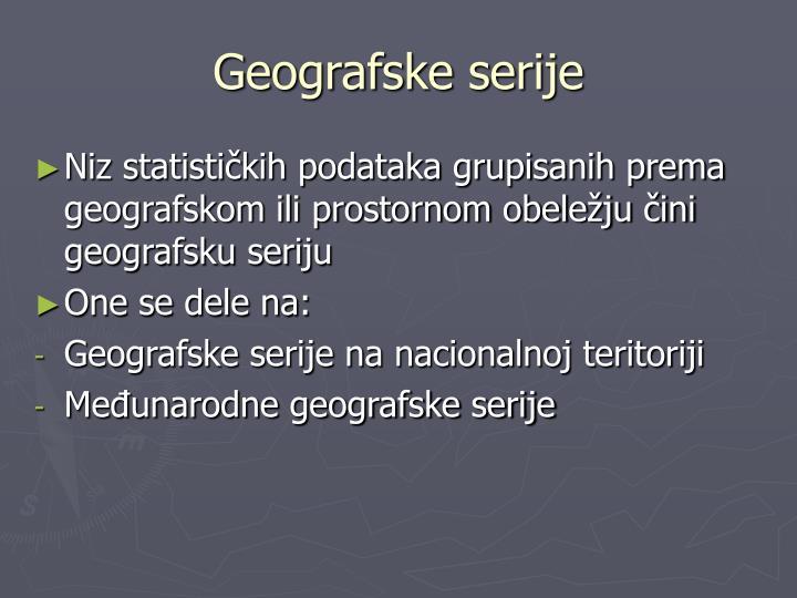Geografske serije