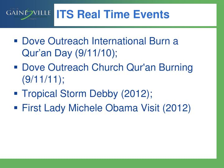 ITS Real Time Events