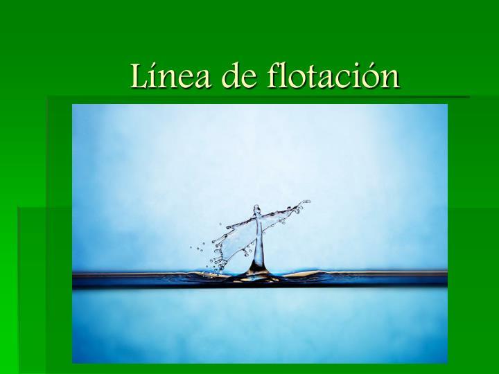 Línea de flotación