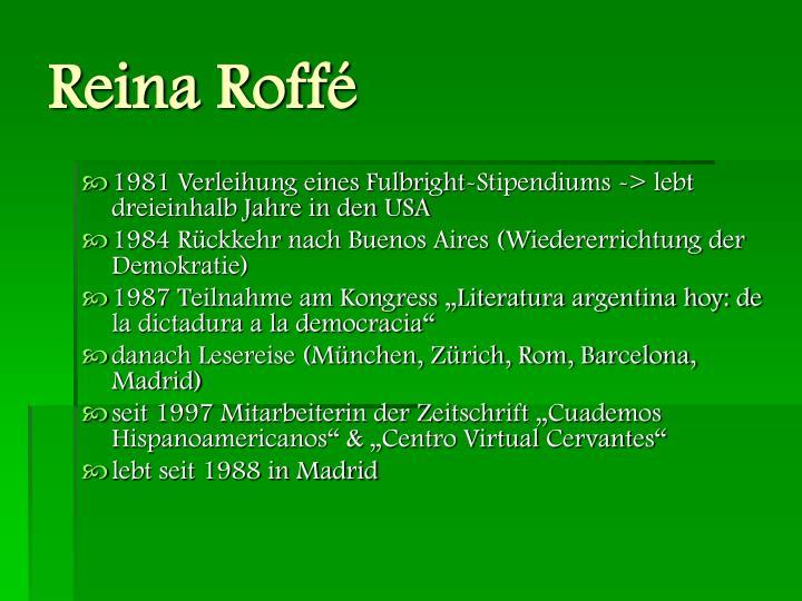 Reina Roffé