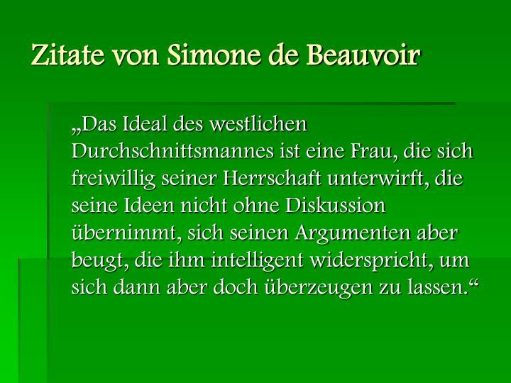 Zitate von Simone de Beauvoir