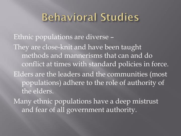 Behavioral Studies