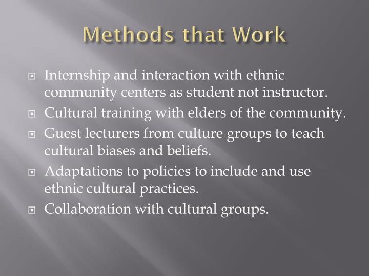 Methods that Work
