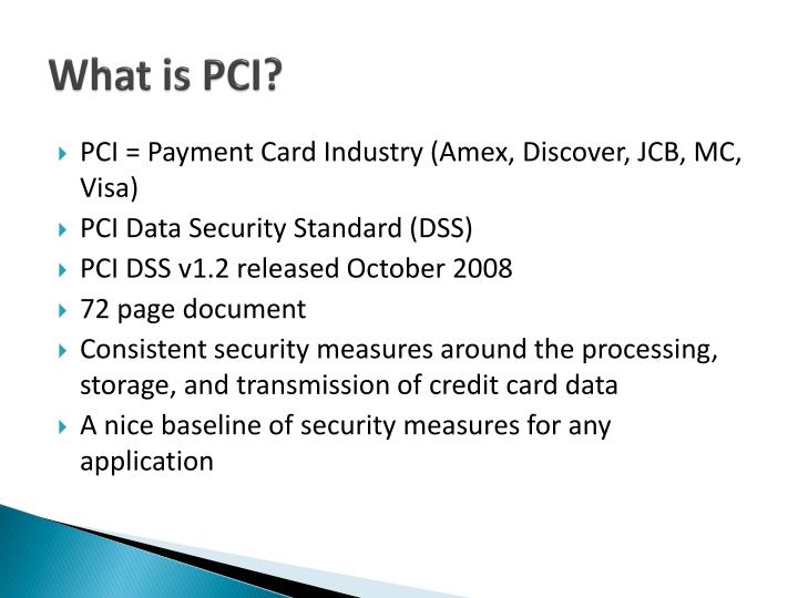 pci dss stands for payment card industry essay