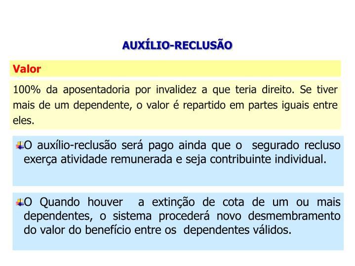 AUXÍLIO-RECLUSÃO