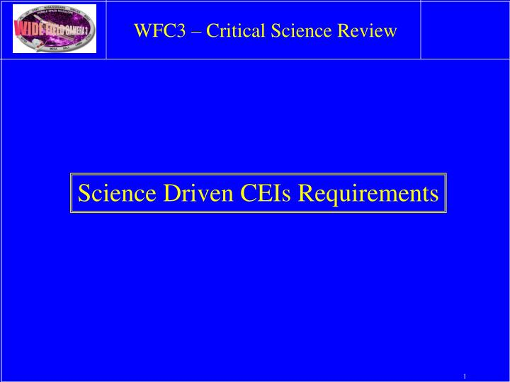 wfc3 critical science review