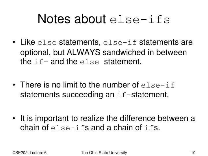 Notes about