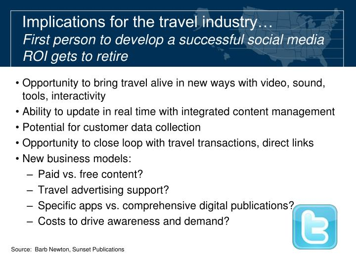 Implications for the travel industry…