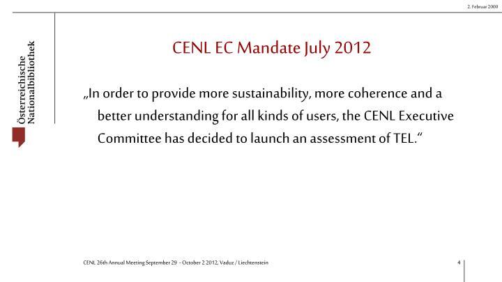 CENL EC Mandate July 2012