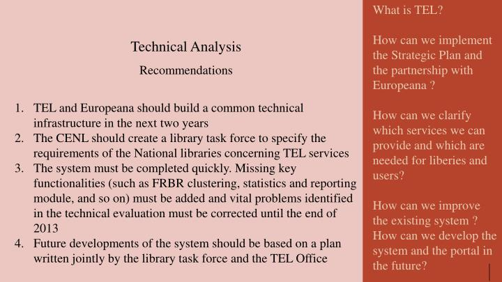 What is TEL?