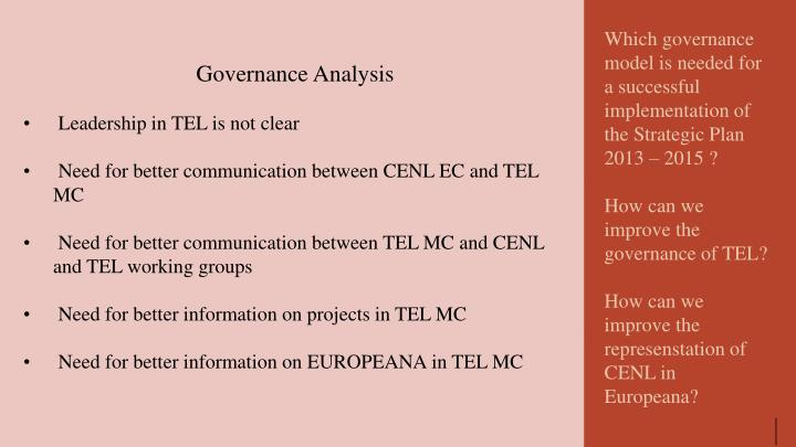 Governance Analysis
