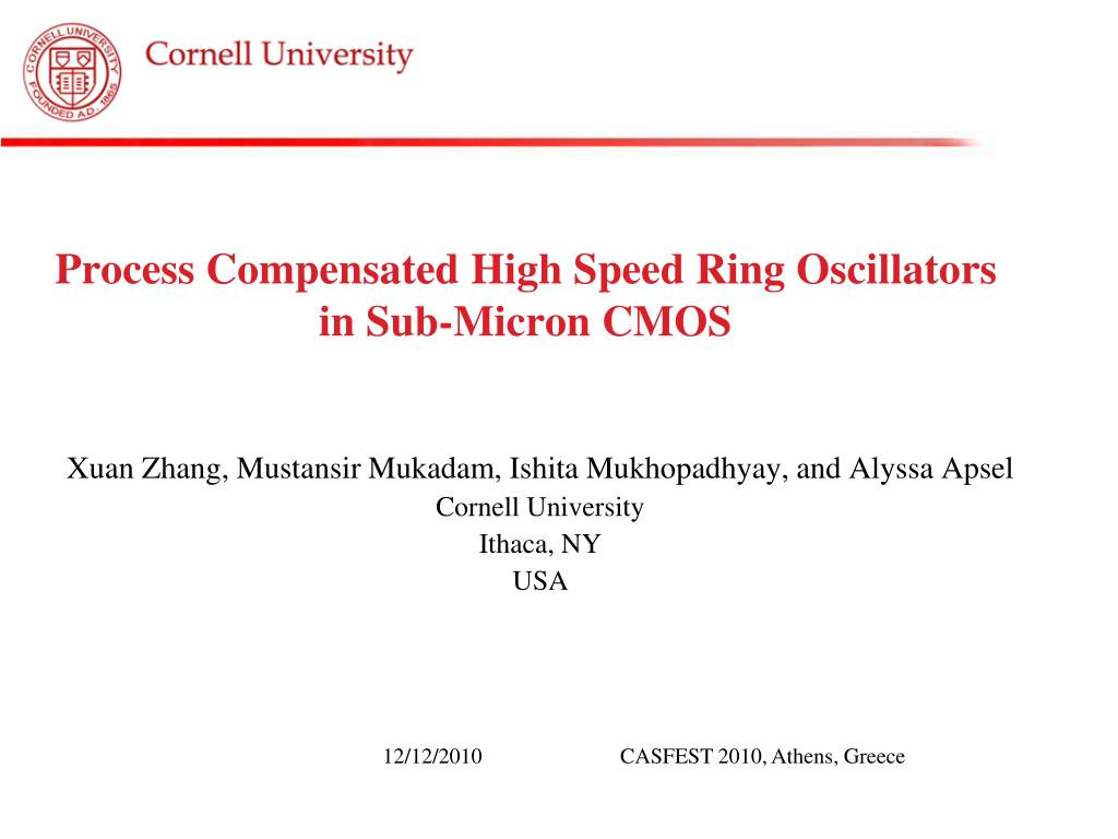 Ppt Process Compensated High Speed Ring Oscillators In Sub Micron Crystal Oscillator With Cmos Inverter N