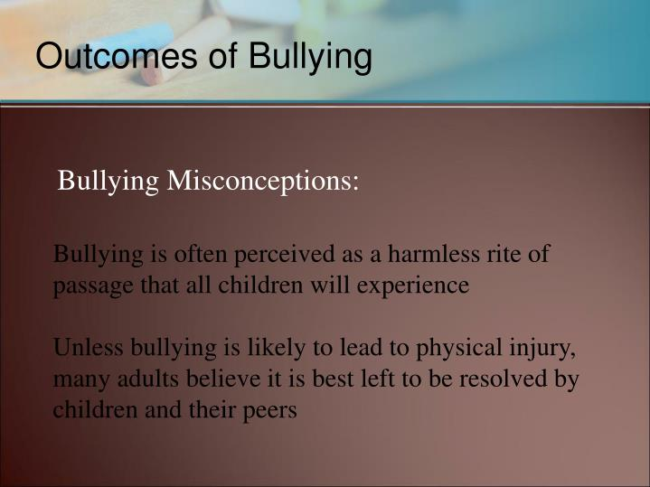 Bullying Misconceptions: