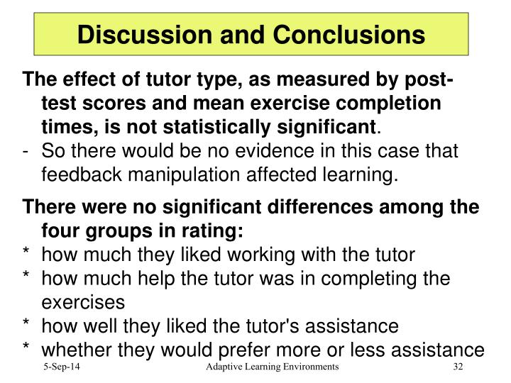 Discussion and Conclusions
