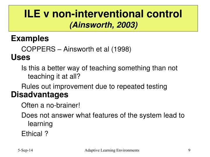 ILE v non-interventional control