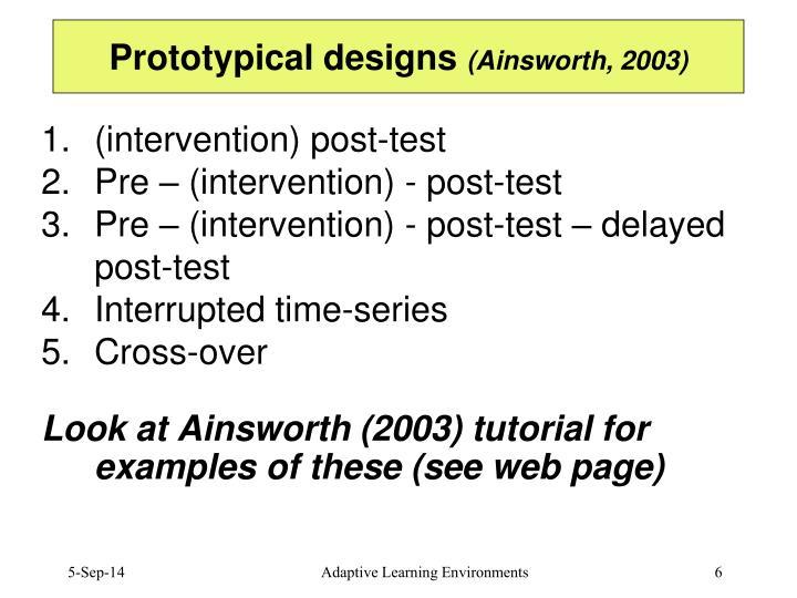 Prototypical designs