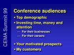 conference audiences