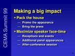 making a big impact