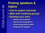 picking speakers topics