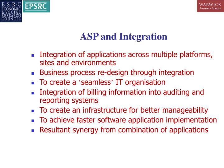 ASP and Integration