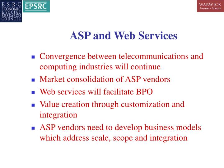 ASP and Web Services