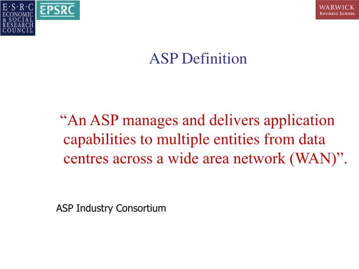 ASP Definition