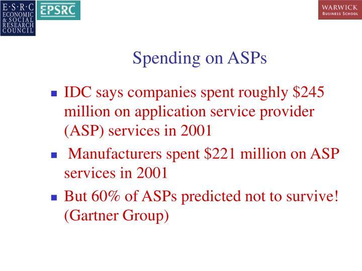 Spending on ASPs