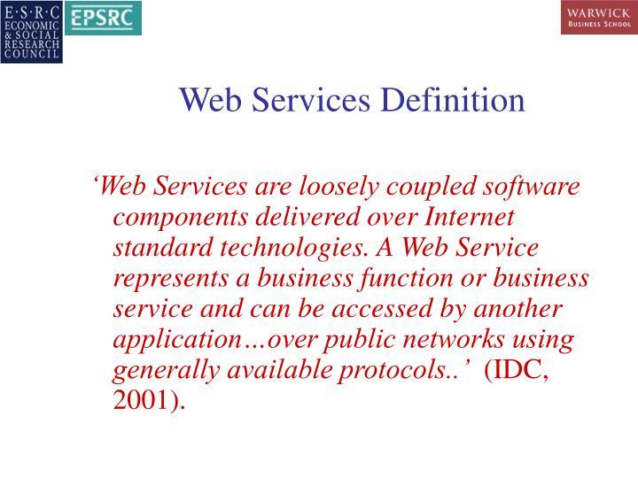 Web Services Definition