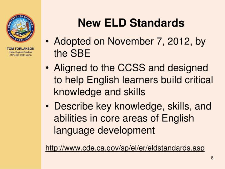 New ELD Standards