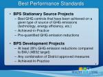 best performance standards